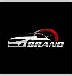 Speed car logo template vector