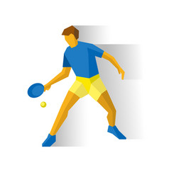 Table tennis player sportsman with racket vector