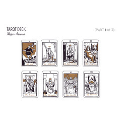 Tarot card deck major arcana set part 2 3 vector