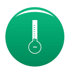 Thermometer cold icon green vector