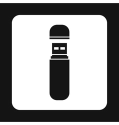 USB flash drive icon simple style vector image