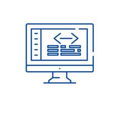 web coding line icon concept web coding flat vector image