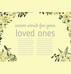 Wedding invitation beautiful greeting card vector