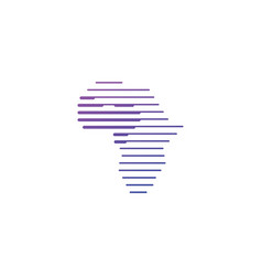west africa tech digital logo icon vector image
