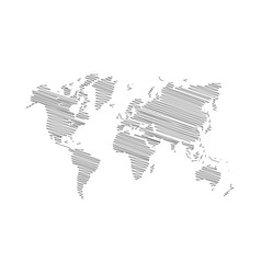 World map scribble vector