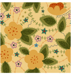 apple-flowers-retro-Converted vector image vector image