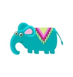 Elephant Wearng A Horse Cover vector image