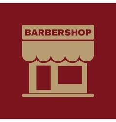 The barbershop building icon barbershop symbol vector