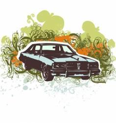 Vintage car retro illustration vector
