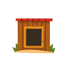 wooden doghouse on a white vector image