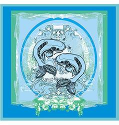 japanese koi background vector image