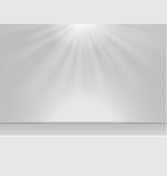 light white studio room background with lighting vector image vector image