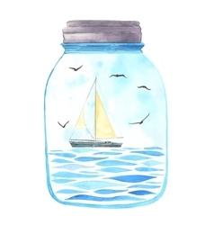 Memories in a jar vector image vector image