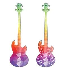 Polygonal Guitar vector image vector image