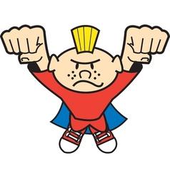 Super hero kid vector image