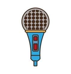 cartoon microphone music vector image vector image