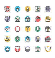 Celebration and Party Cool Icons 2 vector image