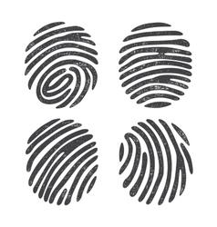 Grunge finger print set vector image vector image