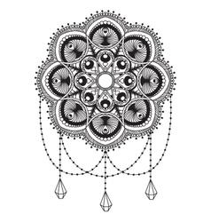 Hand drawn mandala coloping page vector image vector image