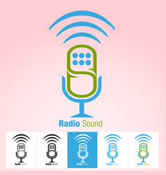 radio sound vector image