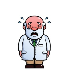 Scientist crying vector image