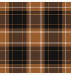 seamless tartan - brown black and white vector image