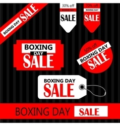 Boxing day Retail Tags vector image vector image