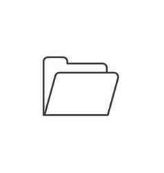 file folder thin line icon linear symbol vector image vector image