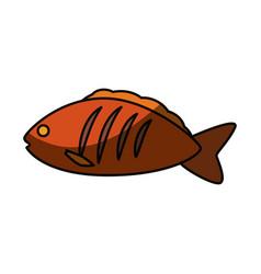 Fish delicious seafood vector