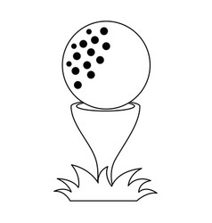 golf ball accessory with pin vector image vector image