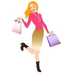 happy shopper vector image
