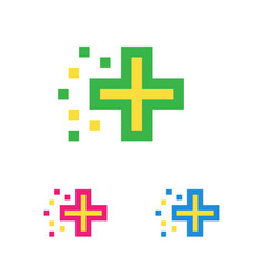 medical logo template pharmacy cross logotype vector image