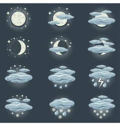 night weather icon vector image