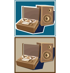 old reel tape recorder vector image vector image