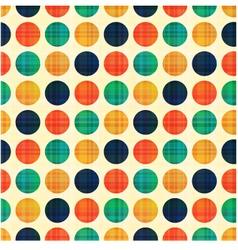 seamless abstract polka dots pattern vector image vector image