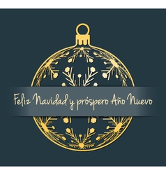 Spain Christmas and New Year background vector image vector image