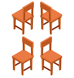 3d design for wooden chairs vector