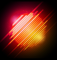 abstract 80s retro neon glowing sun with glitch ef vector image