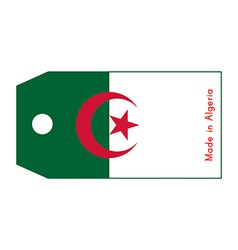 Algeria flag on price tag vector