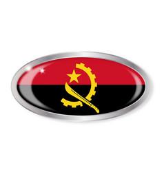 Angola flag oval button vector