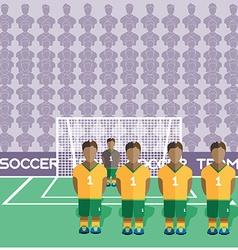 Australia Soccer Club Penalty on a Stadium vector