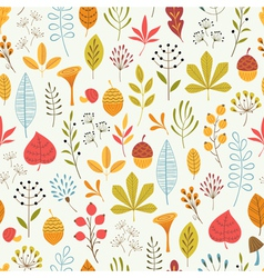 Autumn floral pattern vector