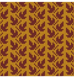 Autumn Knitted Pattern 1 vector image