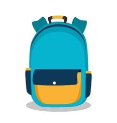 backpack school bag design vector image