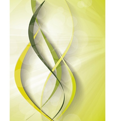 banner with fresh green leaves vector image
