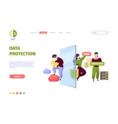 bigdata security firewall safe protective vector image