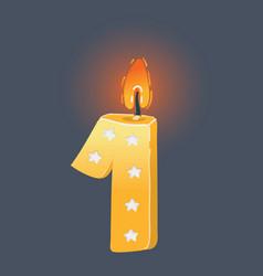 Birthday candle on dark vector