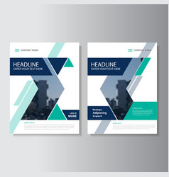 Blue Green annual report Leaflet Brochure vector