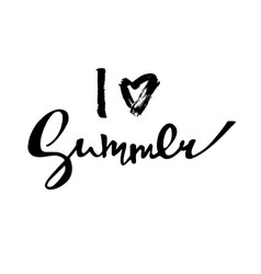 bright poster with hand lettering i love summer vector image