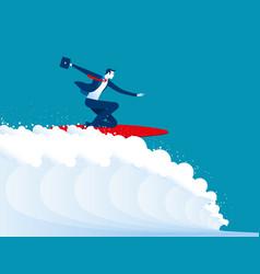 businessmen surfing vector image